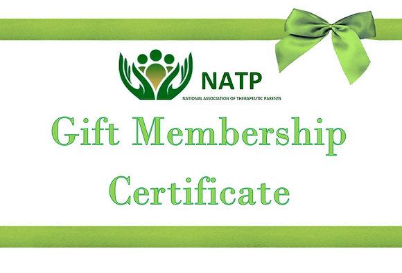 NATP Membership Gift Certificate
