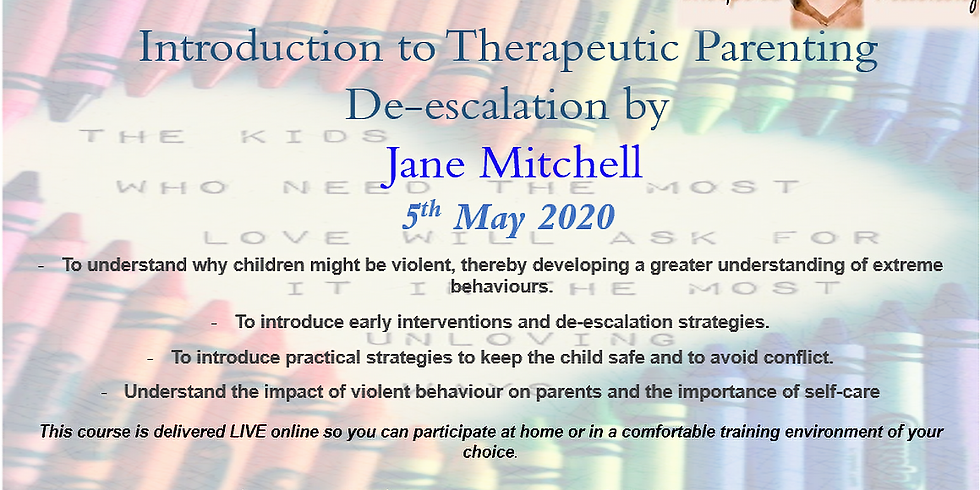 Introduction to Therapeutic Parenting De-escalation by Jane Mitchell Webinar