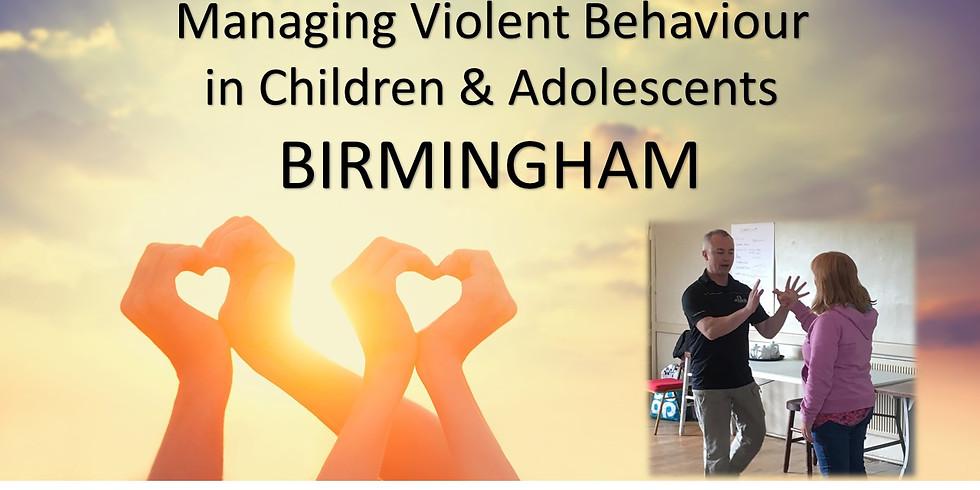 Managing Violent Behaviour in Children & Adolescents - BIRMINGHAM