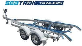 Tandem Boat Trailer, Skid Trailer