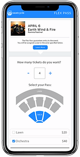 Seatcycle flex pass checkout page on pho
