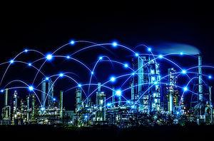 概念,计算机网络,抽象,物联网,数据,智慧城市,复合媒材,未来,在线消息,夜晚.