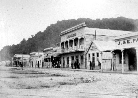 Greymouth in the 1860s.