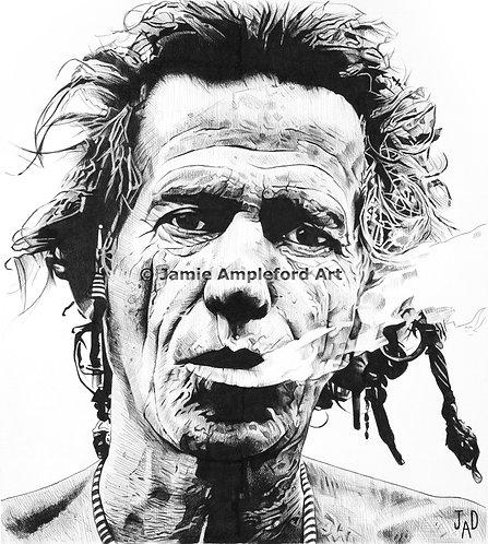 Keith Richards giclée fine art print