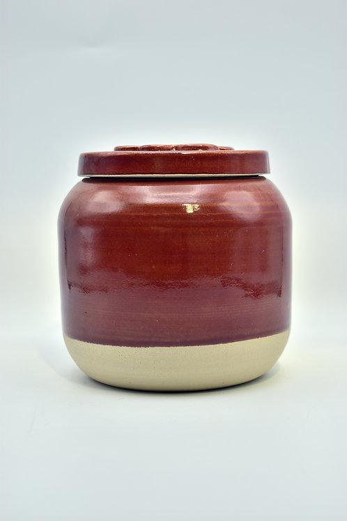 Rode poot urne