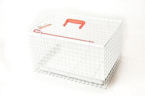 Kattenkooi geplastificeerd metaal wit 46x29x29cm