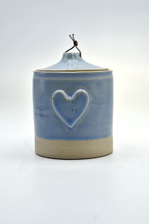 Blauwe hart urne