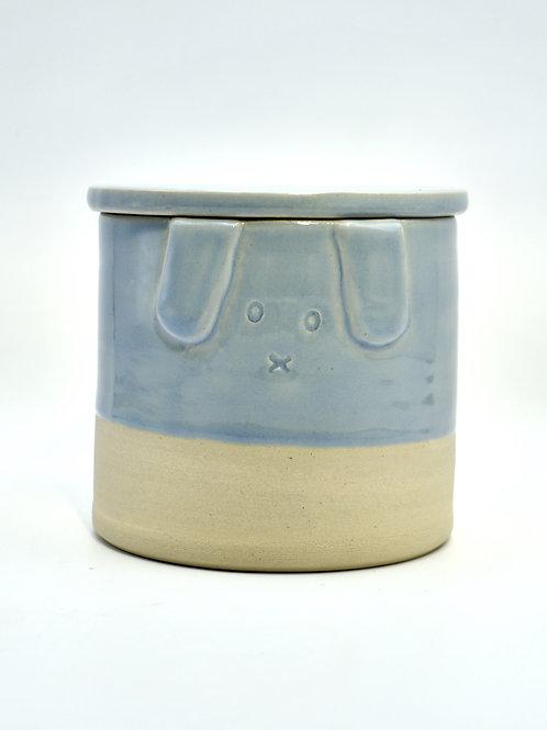 Blauwe hond urne