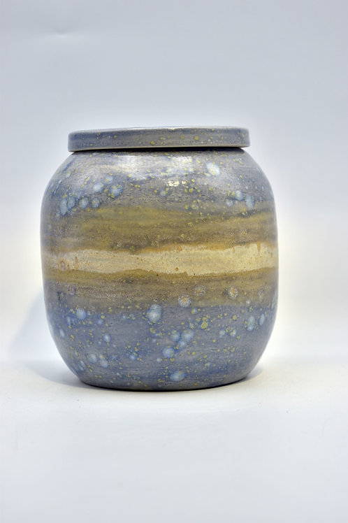 Blauwe vlekjes urne