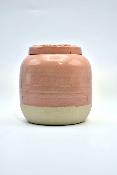 Lichtroze poot urne