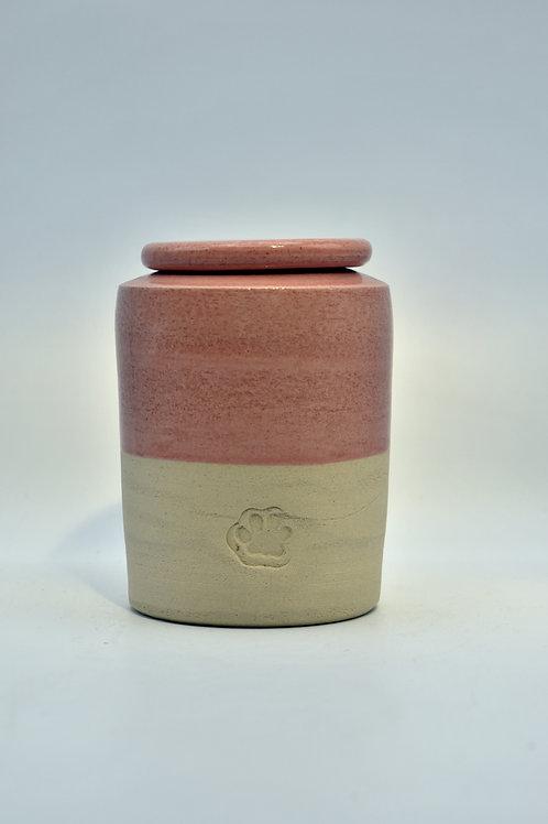 Roze pootje urne