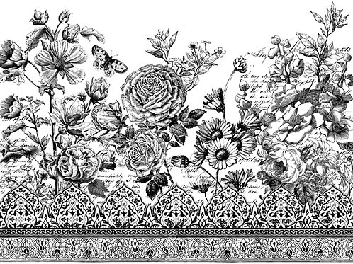 Astoria Foliage 24x33 Paintable Decor Transfer