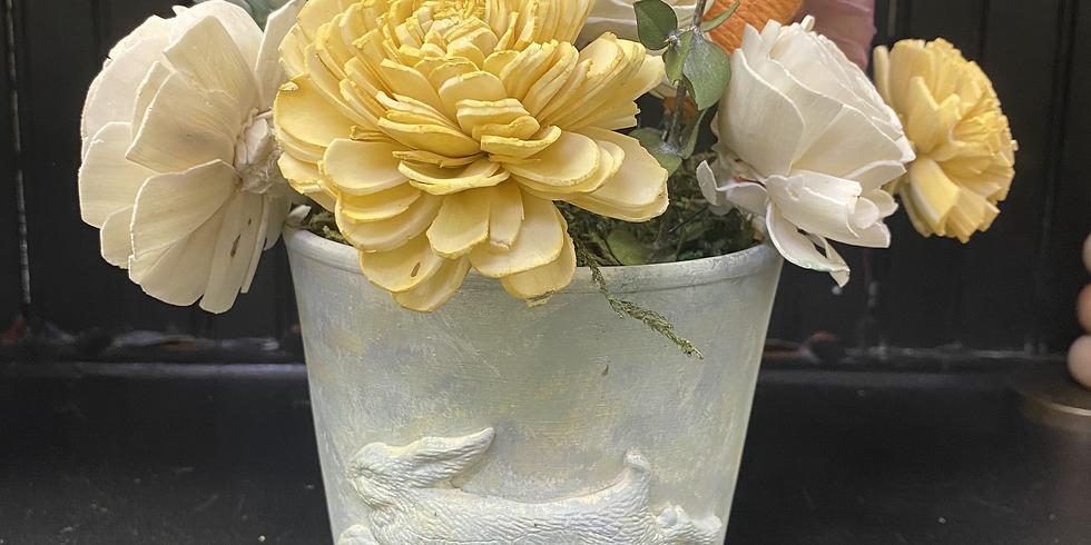 Flower Pot and Wood Flower Workshop