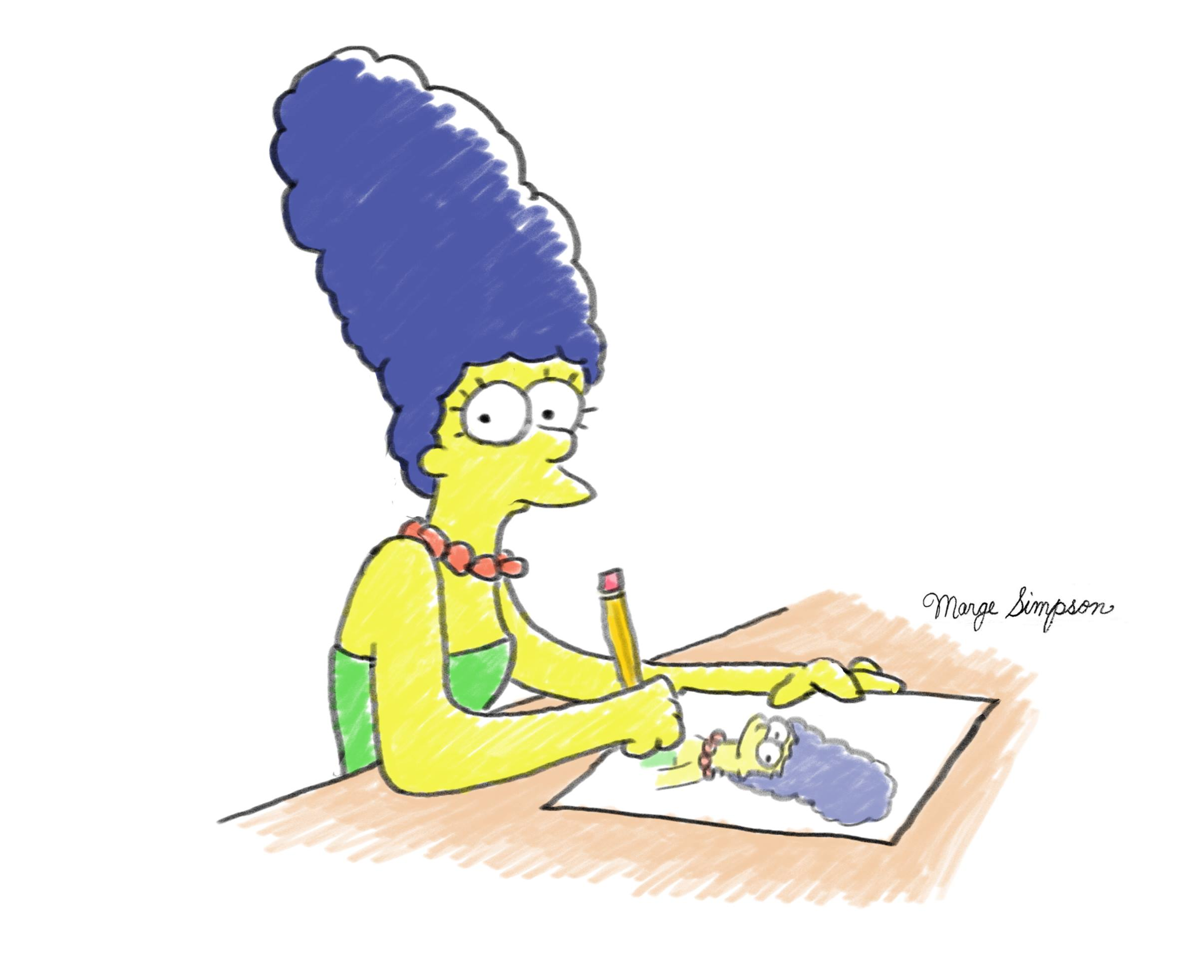 Illustrated Interview: Marge Simpson