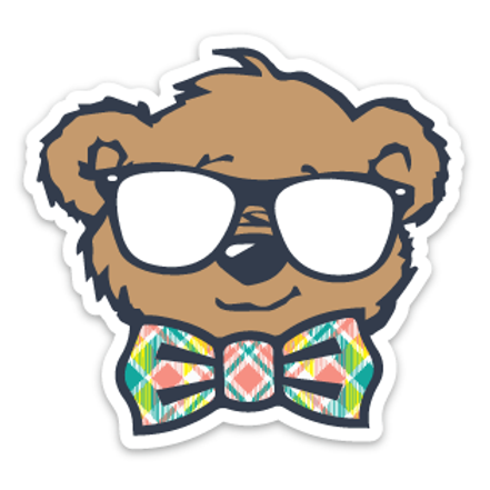 Plaid Bowtie Sticker