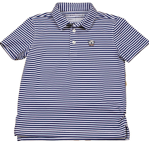 Youth & Toddler Navy Stripe Polo