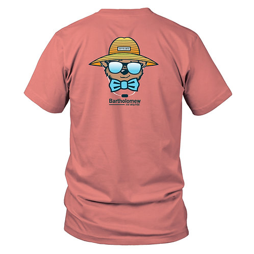 Beach Hat Bart - Youth Short Sleeve - Coral