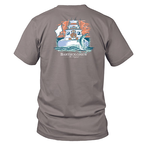Youth - BART - SS Tee - Deep Sea Fishing - Granite