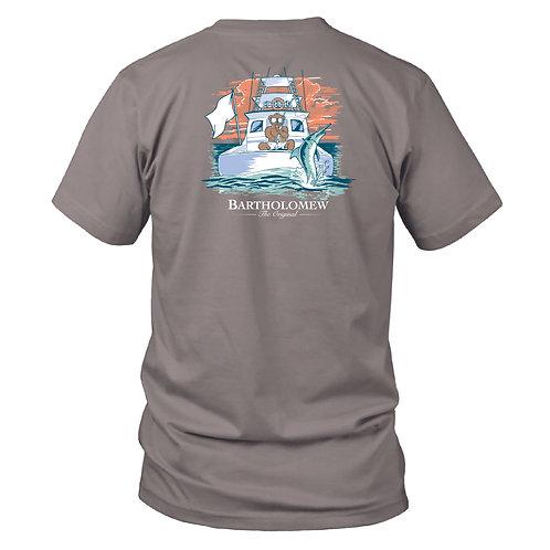 Youth - BART - SS Tee - Deep Sea Fishing - Granite