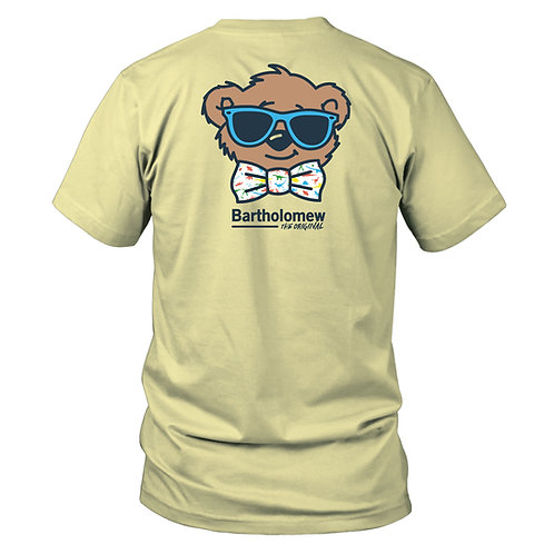 Youth - BART - SS Tee - Dinosaur Bow Tie - Yellow