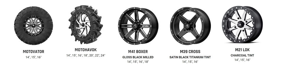 UTV Wheelpro PowerSports Wheels and Tire