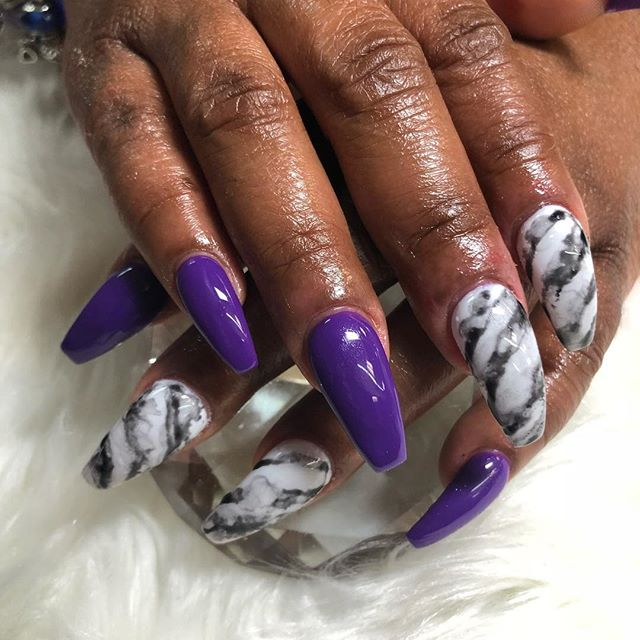 Marble and purple ❤️❤️❤️