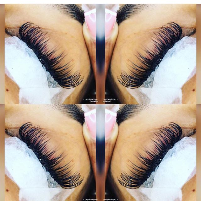 Eyelashes by _mynknwynk by appt only boo