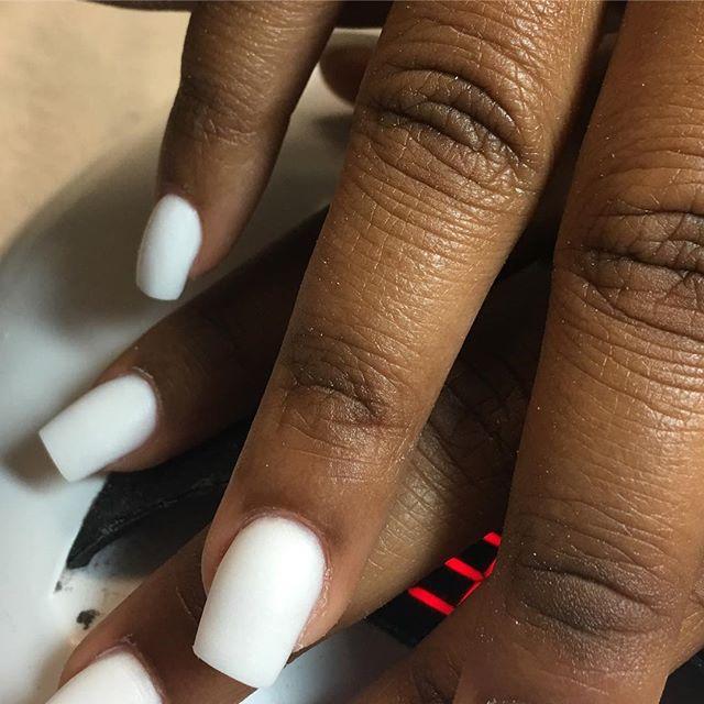All Acrylic 😍💋 #instaglam #nailstyle #classynails #classical #nailgram #nailsofinstagram #miaminai