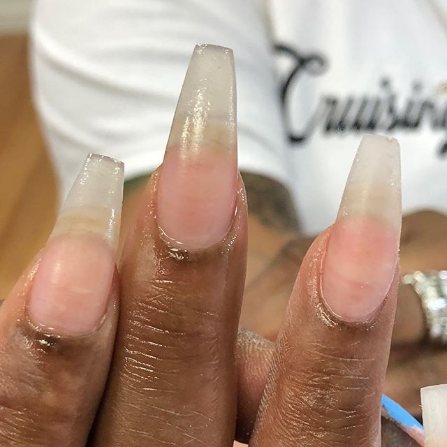 When your nail tech shape on point