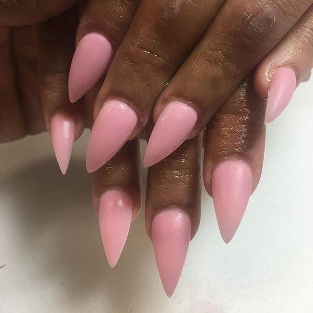 Custom pink acrylic