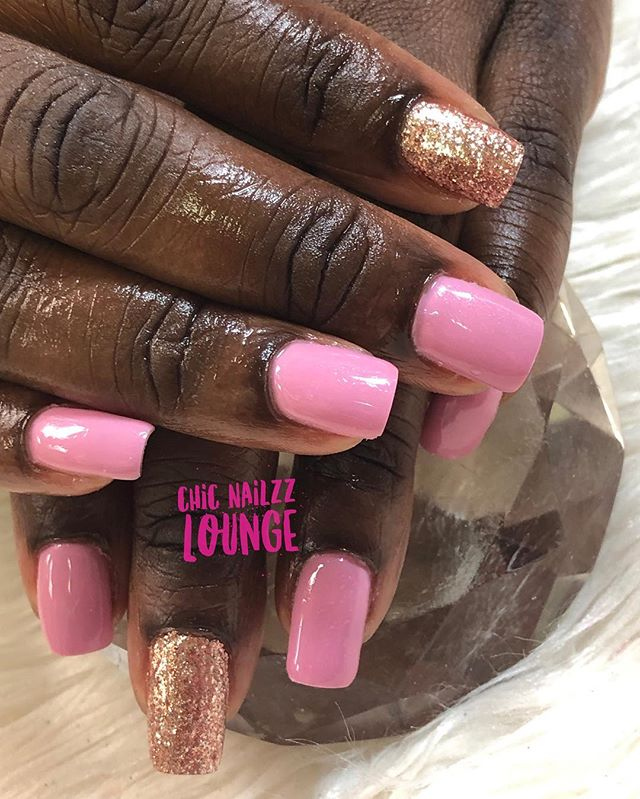 Gel Manicure 💅🏽 yes  these are her nai