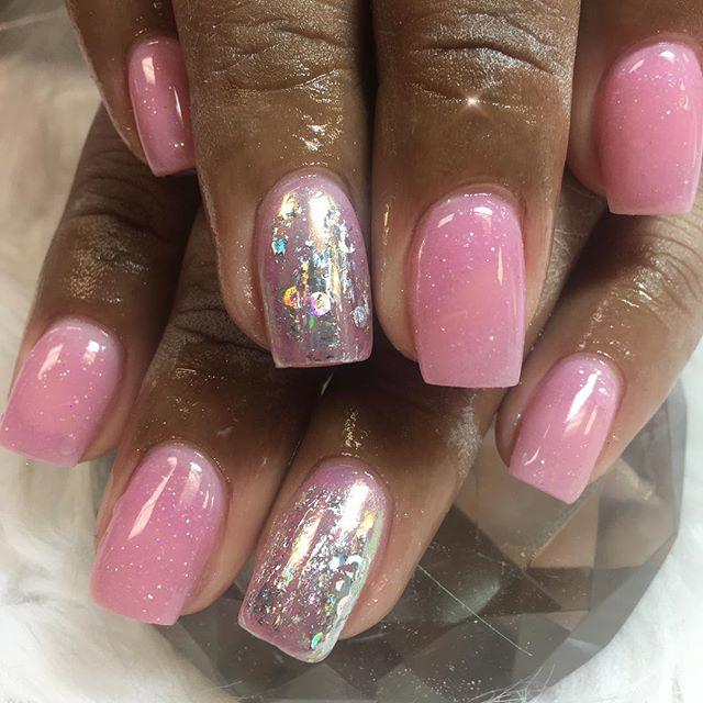 Custom pink acrylic #instaglam #nailstyle #classynails #classical #nailgram #nailsofinstagram #miami