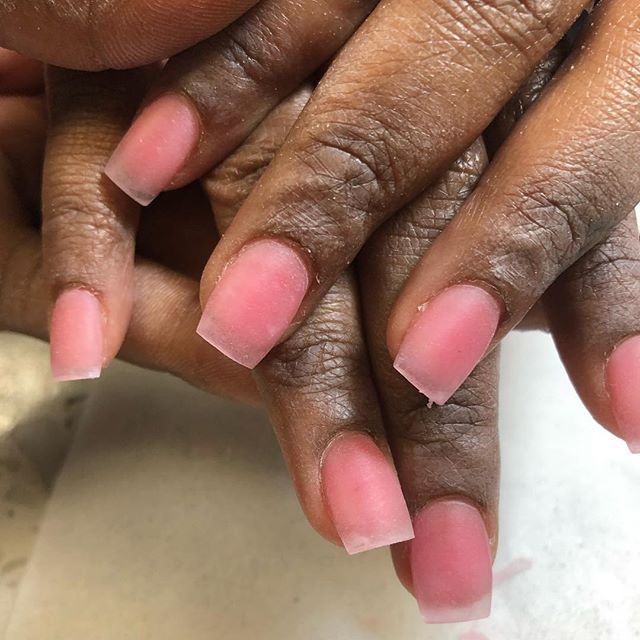Glow in the dark natural pink acrylic overlay