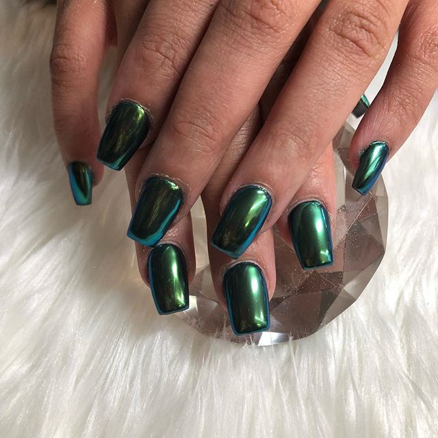This green chrome turns into blue 😍😍😘😘 #7543007941