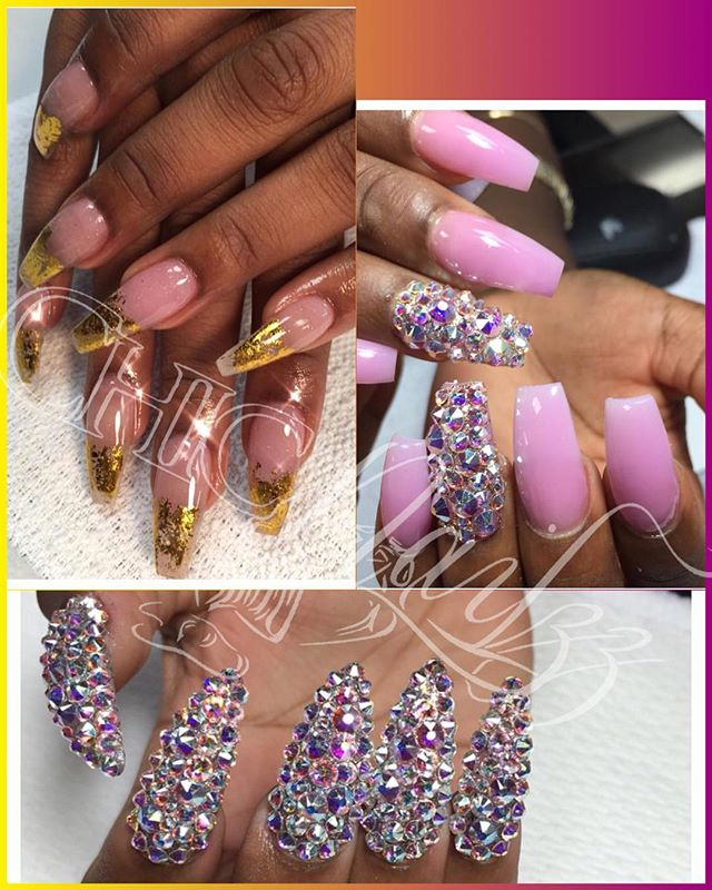 Book Now for prom 💅🏽 text 7543007941 or go to www.chicnailzz
