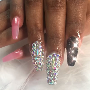 Chic Nailzz Swarovski Crystal design