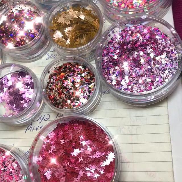 Valentines nail glitter mixes 💗💋😍💕