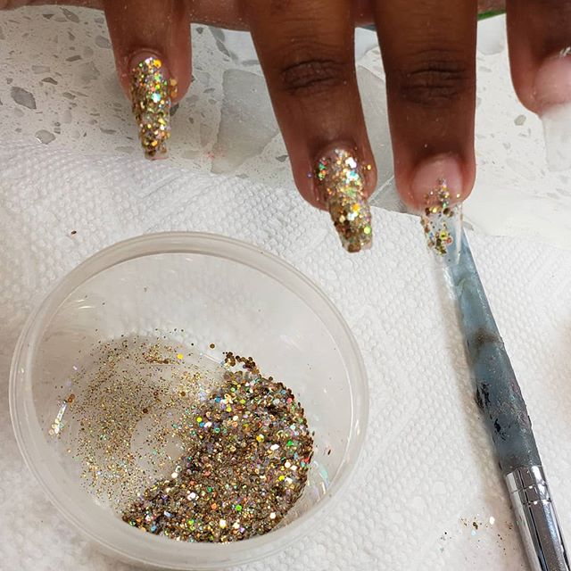 Glitter is life#nail #finger #hand #nail