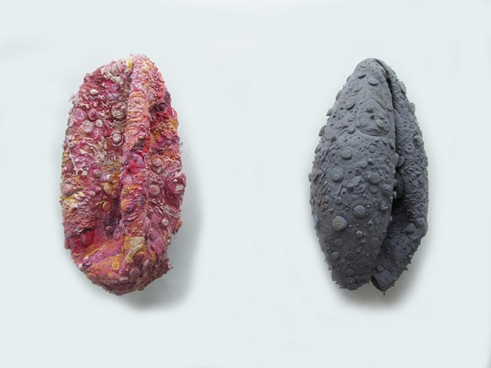 Exoplanet Skin (1), 2014 and Deflated Moon Skin (1), 2014.jpg