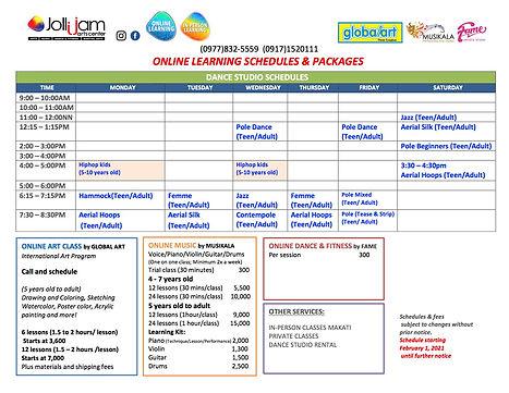 2021.02.01 Jollijam Online schedule   co