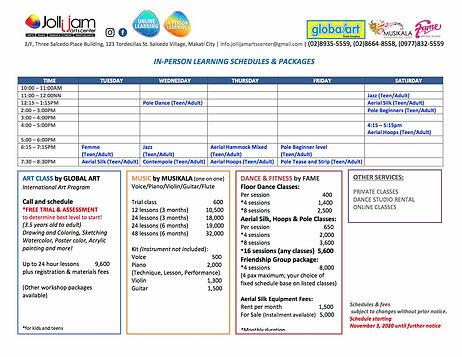 2020.11.03 Jollijam In-person schedule c