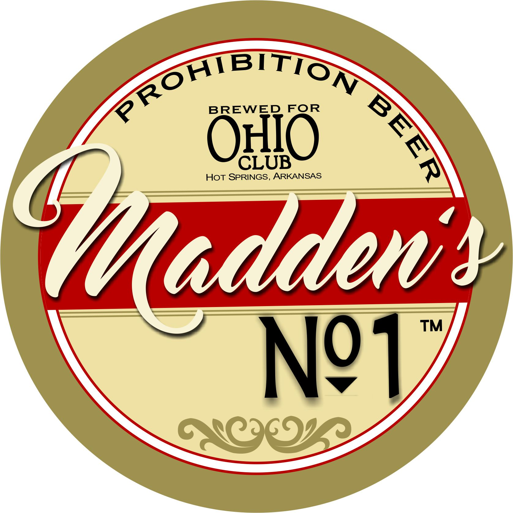 Ohio Club house beer, Maddens No 1