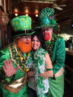 St Pattys Day with Monty and Dick