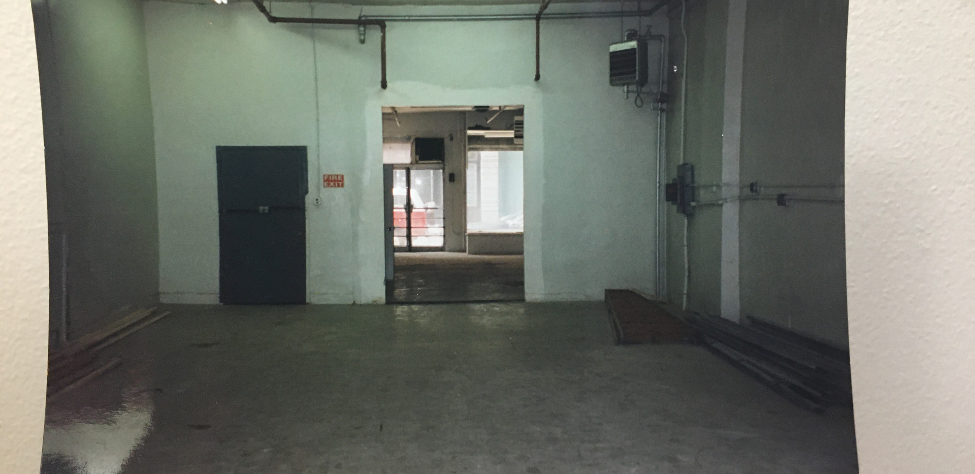 Unrenovated space at 74 Warren Street, Fall 1996