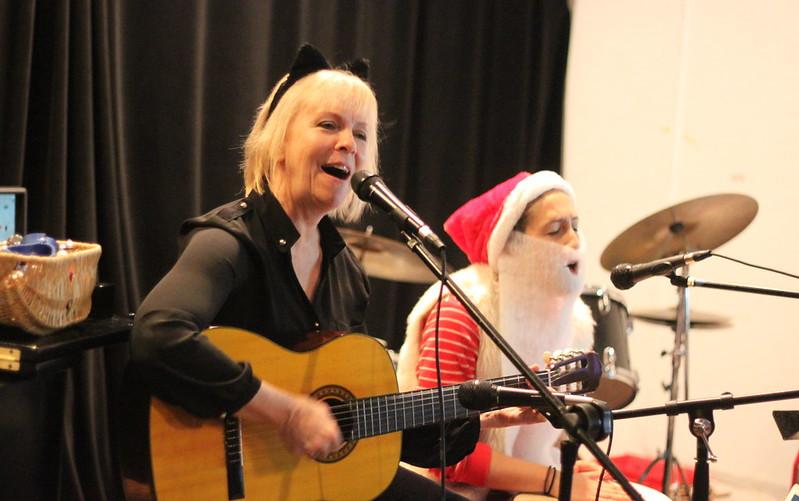 Kitty Cat(Lisa) and Santa(Abby)