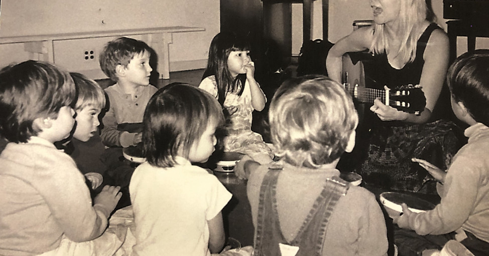 Lisa Ecklund-Flores & preschool music class at 311 Church Street