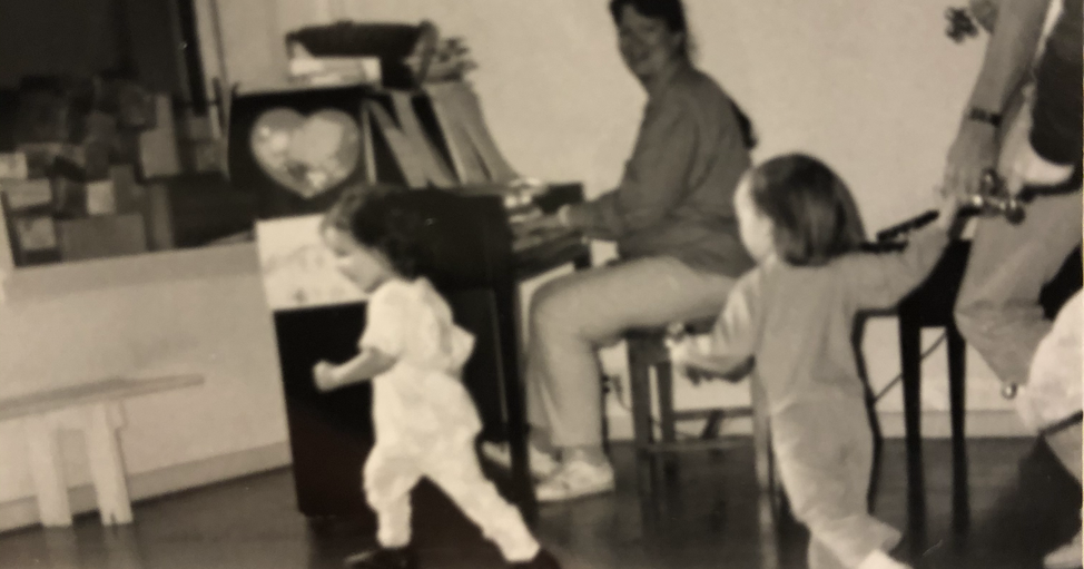 Toddler Music with Lauri Bailey at 311 Church Street, early 1990s