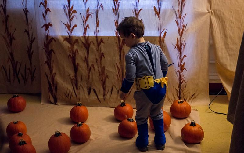 Batman in the Pumpkin Patch