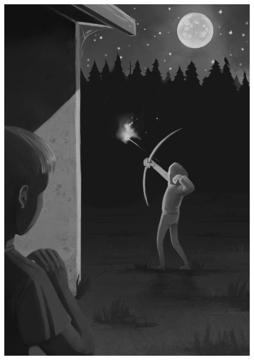 En pil i natten