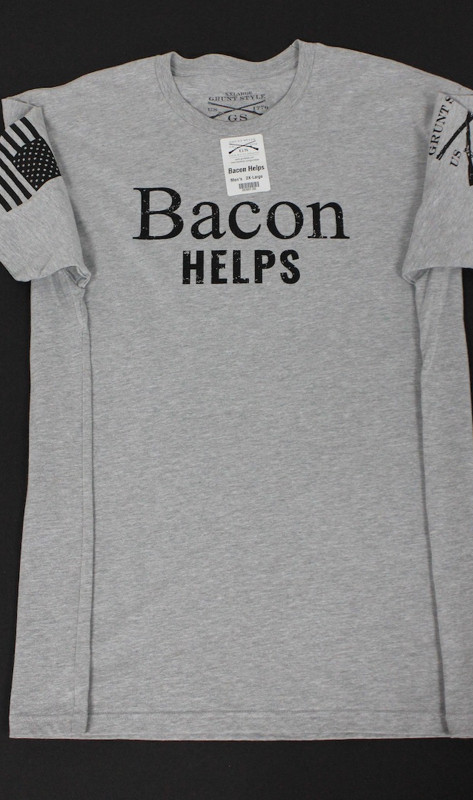 Bacon Helps T-Shirt (Grunt Style)